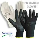 1 - 240 PAIRS NYLON PU COATED SAFETY WORK GLOVES GARDENING BUILDERS MECHANIC GRI