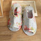 Unisex Home Indoor Shoes Women Floral Printed Cotton Non-slip Floor Slippers UK
