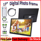 """17"""" Large Digital Photo Frame Metal Frame LED Picture Video Player with Remote"""