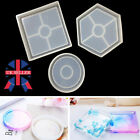 Round Epoxy Resin Molds Diy Coaster Silicone Making Jewelry Re Mould Christmas B