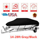Heavy Duty 600D Oxford Fabric Trailerable Waterproof Boat Cover 2 Colors US Ship