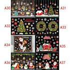 Merry Christmas Window Wall Stickers Decals Snowman Removable Home Decor Ma