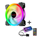 RGB LED FAN with Remote Control Quiet Computer Case Light PC Cooling Fan