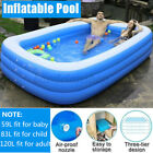 Inflatable Swimming Pools For Adult Kids Family Pool 10Ft Home Outdoor Indoor