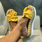 Bow Thick Bottom Mules Slippers Shoes Slippers Summer Women Sandals Large
