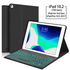 """For iPad 7/8th Gen 10.2"""" 2020 Bluetooth Keyboard Case Stand with Blacklight Keys"""