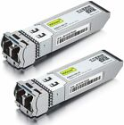2-Pack 10GbE SFP+ LR Transceiver 10GBase-LR 10G 1310nm SMF up to 10km SFP-10G-LR