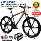 "26"" Wheel Mountain Bike MTB Steel Frame Disc Brake Suspension 21 Speed Bicycle"