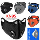 Air Valves Cycling Face Mask Reusable Washable Anti-fog Haze W/carbon Filter Pad