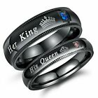 His Queen And Her King Stainless Steel Lover Couple Ring Engagement Promise Band