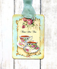 Hang Tags TIME FOR TEA RED ROSE CUP TAGS or MAGNET 271 Gift Tags