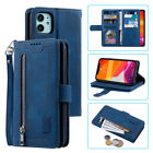 Leather Zip Wallet Card Slot Case Cover For Iphone 11 Pro Max Xs Xr 7 8 Se 2020
