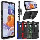 Outer Box Hybrid Shockproof Belt Clip Holster Stand Phone Cover Case LG Stylo 6