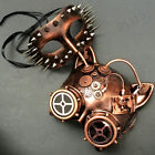 Rose Gold Cat Masquerade Mask Pair Mens Steampunk Spike Halloween Cosplay Party