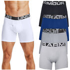 """2020 Under Armour Mens Charged Cotton 6"""" Boxerjock 3 Pack Stretch Boxer Shorts <br/> 10% off w/ code PACK10. Min spend £20 Max off £50."""