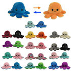 Octopus Doll Emotional Face Changing double-sided Flip Reversible Plush Toy Doll