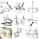Stainless Steel Adjustable Bust Fixation Torture Breast Clips Restraint Clamps