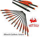 6/12X 20Inch Carbon Arrow Crossbow Arrows 100GR Broadhead Archery Target Hunting