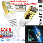RJ45+CAT8+Ethernet+Network+SSTP+40Gbps+Patch+Lead+Cord+Cable+LOT+0.5M+TO+20M+UK