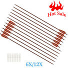 """Archery Arrows Carbon Screw Point 4"""" Turkey Feather Vanes For Shooting Hunting"""