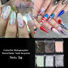Nail Sequins Heart Holographics Nail Powder Colorful Nail Art Decoration