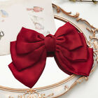 Big Bow Hair Clip Satin Barrette Hairpin Solid Color Ponytail Hair sdtr