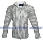 English Heroes by Rock Roll n Soul EHW117 L/S Button Down Woven Shirt for Men