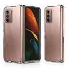 For Galaxy Z fold 2 Case clear Back Hybrid TPU bumper full body protection