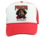 Trucker Hat Cap Foam Mesh School Team Mascot Pirates Spirit