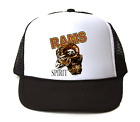 Trucker Hat Cap Foam Mesh School Team Mascot Rams Spirit