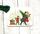 Hang Tags RETRO FAMILY BRINGING HOME THE TREE CHRISTMAS TAGS or MAGNET 172