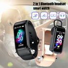 2-In-1 Smart Watch BP With Bluetooth 5.0 Wireless Earbuds Touch Sports Earphone