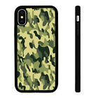Camo Pattern - Silicone Phone Case Skin Cover fits iPhone 5 6 7 8 X 11 12