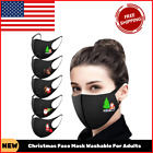 Christmas Face Mask Washable For Adults Reusable Print Virus Protection With Ear