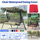 Patio Swing Chair 3-Seat Backrest Cushion Replacement Cover Outdoor Garden