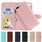 Removable Flip Wallet Card Slot Case Skin Cover For Iphone 6 7 8 Plus Xs Max Xr