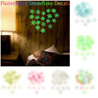 Home Decoration Wall Stickers Wall Art Night Light Fluorescent Snowflake Decals