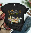 SALE - HAPPY THANKSGIVING The Peanuts Gang T Shirt Funny Vintage Gift Men Women