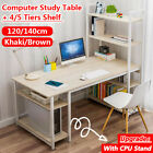 Computer Laptop Office Desk Table Study Write Game Workstation Storage Bookshelf