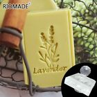 Acrylic Soap Stamp Lavender Natural Transparent Stamps