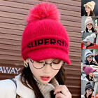 Fashion Women Winter Autumn Warm Letter Printed Knitted Cap Hats with Visor Eag