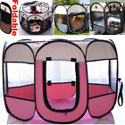 Large Fabric Dog Crate Portable Pet Tent Dog Puppy Hamster Playpen Fence Folding