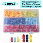 240PCS Insulated T-Tap 22-10 AWG Quick Splice Wire Terminal Combo Connectors Kit