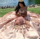 Sequin Applique Ball Gown Prom Ruffles Skirt Party Sweet 16 Quinceanera Dress