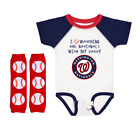 Washington Nationals Baby Bodysuit Love Watching With Daddy