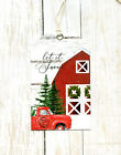 Hang Tags FARMHOUSE LET IT SNOW RED TRUCK BARN CHRISTMAS TAGS T 94 Gift Tags