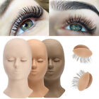 3 Colors Lifelike Real Skin Practice Lashes Head Mannequin W/ Removable Eyelids