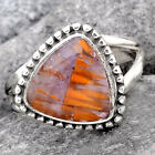 Cacoxenite Super Seven 7 Mineral 925 Sterling Silver Ring s.7 Jewelry 1773