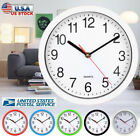 8 Inch Round Wall Clock Silent Quartz Non-ticking Battery Home Hanging Modern US