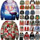 Womens Mens Christmas Xmas Print Sweater Sweatshirts Pullover Jumper T Shirt Top